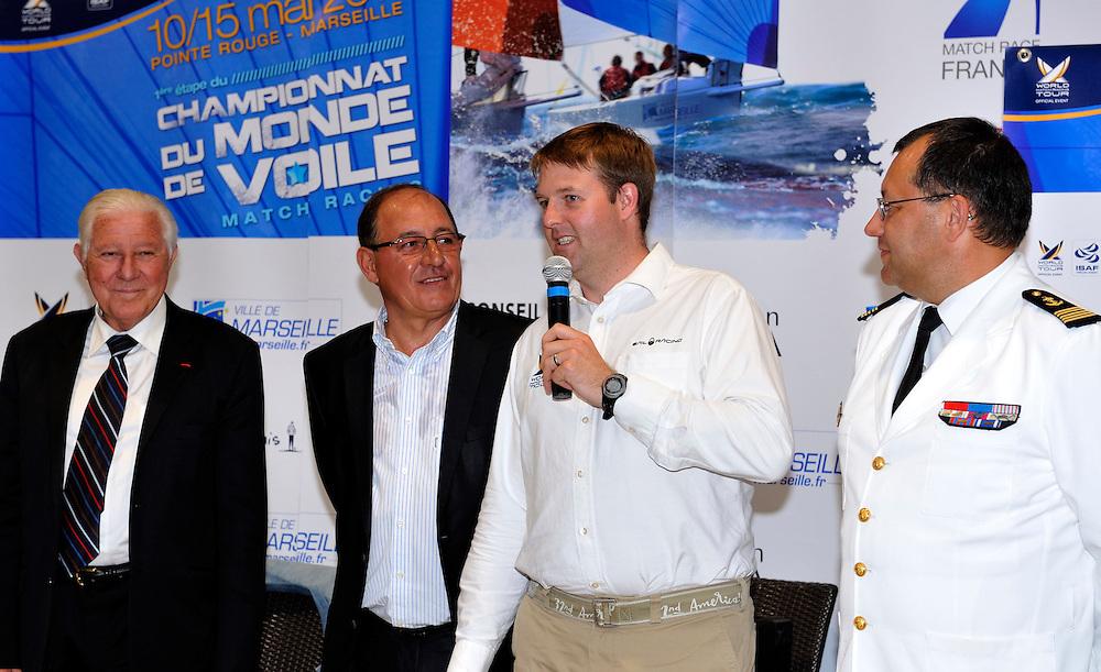 Craig Mitchell, WMRT Tour Director, makes a speach at the Dinner party. Photo: Chris Davies/WMRT