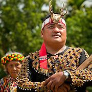 Bunun man holds rifle at Annual Bunun Ear Festival, Maya village, Ming Chuan, Namasiya Township, Kaoshiung County, Taiwan
