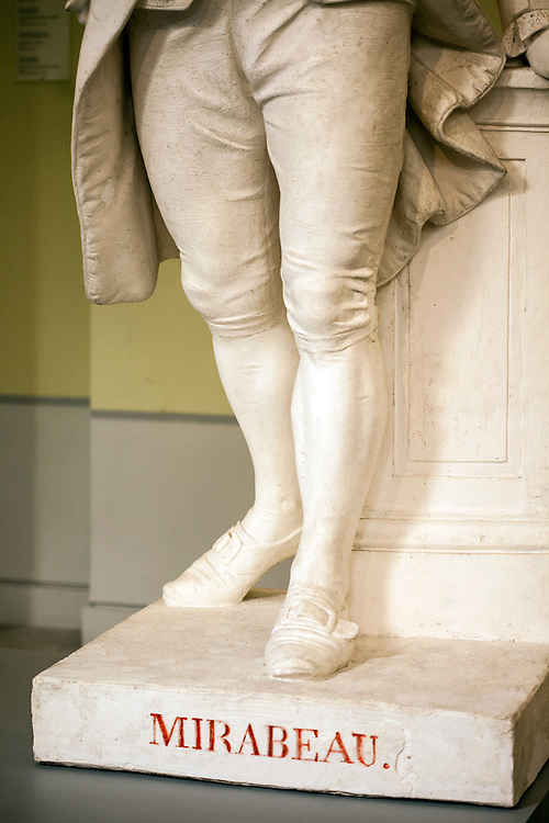 Bottom of sculpture of Mirabeau in permanent collection of Granet museum in Aix-en-Provence, France.