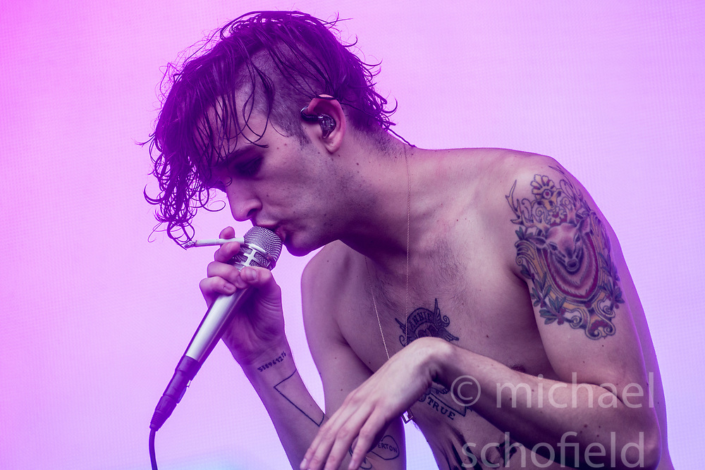 Matthew Healy, lead singer of The 1975,  play the main stage on Sunday at the TRNSMT music festival, Glasgow Green.