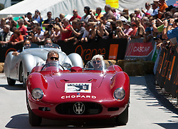 16.07.2011, Groebming, AUT, Ennstal Classic 2011, Chopard Grand Prix, im Bild .Nicola Sculco und Maria Theresa de Filippis (Maserati 200S Bj. 1956) // during Chopard Grand Prix at the Ennstal Classic 2011 in Groebming, Austria on 16/7/2011. EXPA Pictures © 2011, PhotoCredit: EXPA/ J. Groder