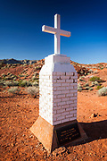 Civil War veteran John B. Clark memorial, Valley of Fire State Park, Nevada USA