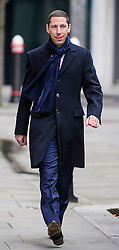 © Licensed to London News Pictures. 01/03/2017. London, UK. CHRISTIAN CANDY arrives at the Royal Courts of Justice in London. Brothers Nick and Christian Candy are being sued in a dispute over a £12m loan which was used to help fund Mark Holyoake's own project at Grosvenor Gardens House in central London. Photo credit: Ben Cawthra/LNP