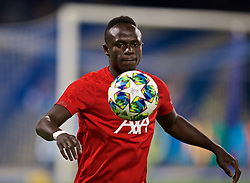 NAPLES, ITALY - Tuesday, September 17, 2019: Liverpool's Sadio Mane during the pre-match warm-up before the UEFA Champions League Group E match between SSC Napoli and Liverpool FC at the Studio San Paolo. (Pic by David Rawcliffe/Propaganda)