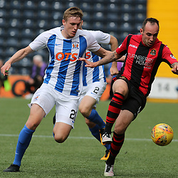 Mark Stewart  and Iain Wilson battle during the Kilmarnock v Dumbarton Betfred Cup Group E  29nd July 2017 <br /> <br /> <br /> <br /> <br /> (c) Andy Scott | SportPix.org.uk