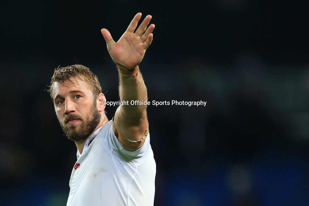 10th October 2015 - Rugby World Cup (Pool A) - England v Uruguay - Chris Robshaw of England waves farewell after the match - Photo: Simon Stacpoole / Offside.