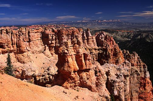 red rock formations; Hoodoos; Black Birch Canyon; Ponderosa Ridge; Bryce Canyon National Park; Bryce Canyon; UT; Utah