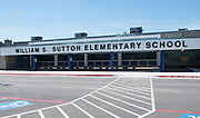 William S. Sutton Elementary School photographed April 5, 2013. The school was a recipient of funds from the 2007 Bond.