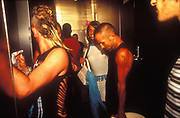 Club toilets queue, UK 2003