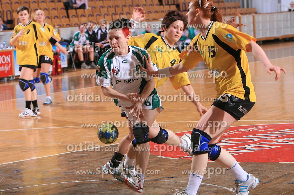 Ines Cigoja of Krka at Women Slovenian Handball Cup, finals match for third place between RK Celeia Zalec and ZRK Krka, on April 5, 2009, in Arena Tivoli, Ljubljana, Slovenia. Won of Krka 27:24. (Photo by Vid Ponikvar / Sportida)