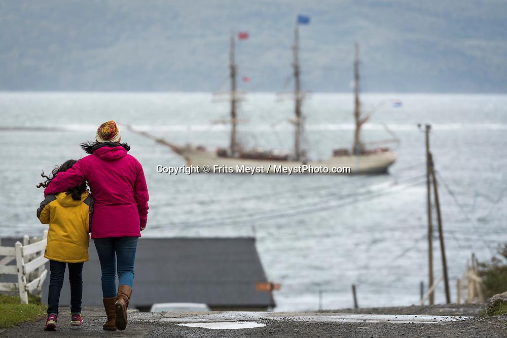 Puerto Williams, Isla Navarino Island, Magallanes, Chile, February 2016.  Dutch Tallship, Bark Europa, explores Antarctica during a 25 day sailing expedition. Photo by Frits Meyst / MeystPhoto.com