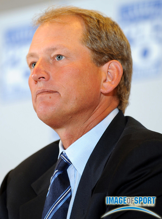 Jul 24, 2008; Los Angeles, CA, USA; UCLA coach Rick Neuheisel at Pacific-10 Conference Media Day at the LAX Hilton.