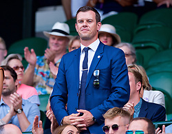 LONDON, ENGLAND - Saturday, July 7, 2018: Tennis coach Leon Smith in the Royal Box before the Gentlemen's Singles 3rd Round match on day six of the Wimbledon Lawn Tennis Championships at the All England Lawn Tennis and Croquet Club. (Pic by Kirsten Holst/Propaganda)