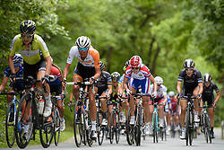 Battling up the climbs on a lumpy day at Thüringen Rundfarht 2016 - Stage 2 a 103km road race starting and finishing in Erfurt, Germany on 16th July 2016.