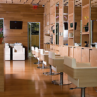 Interior images of hair salon