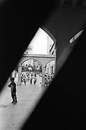 Barcelona, 2001: bambini all'interno di una scuola - children playing in a school<br /> &copy; Andrea Sabbadini