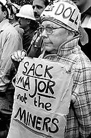 Coal miners demo London 25/10/1992