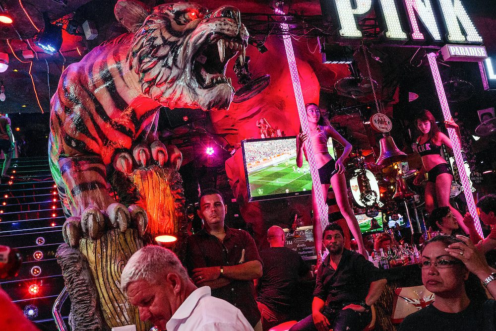 The Tiger Bar on Bangla Street. This infamous street is where all the GoGo bars and discotheques are located on the island.