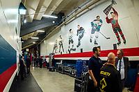 KELOWNA, BC - SEPTEMBER 29:  The Kelowna Rockets player mural at Prospera Place on September 29, 2018 in Kelowna, Canada. (Photo by Marissa Baecker/NHLI via Getty Images)  *** Local Caption ***