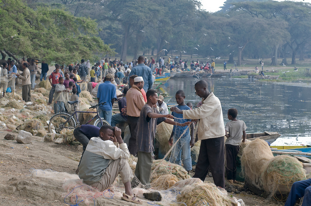 Fishermen on lake Awasa, Ethiopia,Africa