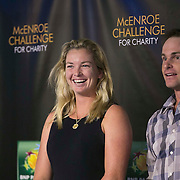 March 6, 2015, Indian Wells, California:<br /> Coco Vandeweghe and Andy Roddick are introduced during the McEnroe Challenge for Charity VIP Draw Ceremony in Stadium 2 at the Indian Wells Tennis Garden in Indian Wells, California Friday, March 6, 2015.<br /> (Photo by Billie Weiss/BNP Paribas Open)