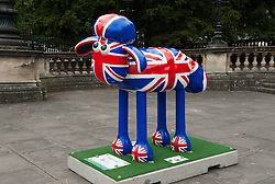 © Licensed to London News Pictures. 06/07/2015. Bristol, UK.  SHAUN THE SHEEP, Flock N' Roll designed by Carys-ink.  The Shaun in the City trail starts today with 70 5ft tall Shaun the Sheep sculptures originally devised by Aardman Animations with these sculptures decorated by various artists.  The Shaun trail happened in London in the spring, and the Bristol Trail lasts till 31 August.  At the end of September all 120 Shaun sculptures will be viewable together in Covent Garden.  All sculptures will then go to auction on 8th October, with proceeds from the Bristol sculptures benefitting The Grand Appeal which funds pioneering medical equipment, facilities, and comforts for patients at Bristol Children's Hospital. Proceeds from the London sculptures will benefit Wallace & Gromit's Children's Charity supporting children's hospitals and hospices throughout the UK. Photo credit : Simon Chapman/LNP