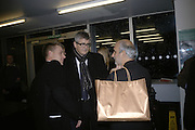 Tim Marlow, Jay Jopling and Alan Yentob, Gilbert and George Major Exhibition. Tate Modern. Afterwards dinner at Christchurch Spitafields. London. 13 February 2007.  -DO NOT ARCHIVE-© Copyright Photograph by Dafydd Jones. 248 Clapham Rd. London SW9 0PZ. Tel 0207 820 0771. www.dafjones.com.