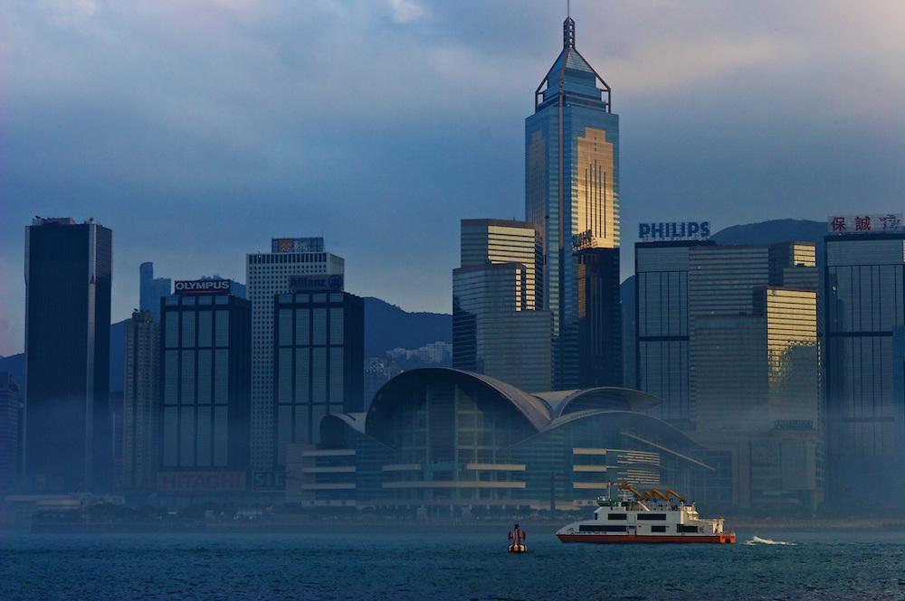 Hong Kong Island from Kowloon promenade