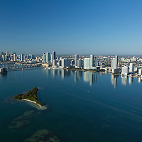 Aerial of downtown Miami featuring the Edgewater district north.