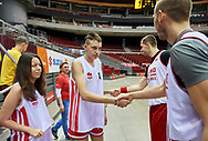 Gdansk, Poland - 2018 December 01: Special Olympics Basketball Week at Ergo Arena on December 01, 2018 in Gdansk, Poland.<br /> <br /> Mediasport declares that he has no rights to the image of people at the photographs of his authorship.<br /> <br /> Picture also available in RAW (NEF) or TIFF format on special request.<br /> <br /> Any editorial, commercial or promotional use requires written permission from the author of image.<br /> <br /> Image can be used in the press when the method of use and the signature does not hurt people on the picture.<br /> <br /> Mandatory credit:<br /> Photo by © Mediasport