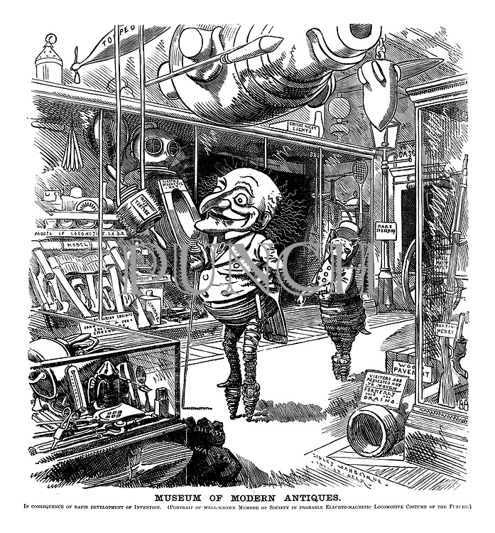 victorian era inventions cartoons from punch magazine punch