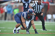 Mississippi Rebels defensive end John Youngblood (47) vs. Louisiana-Lafayette at Vaught-Hemingway Stadium in Oxford, Miss. on Saturday, September 13, 2014.