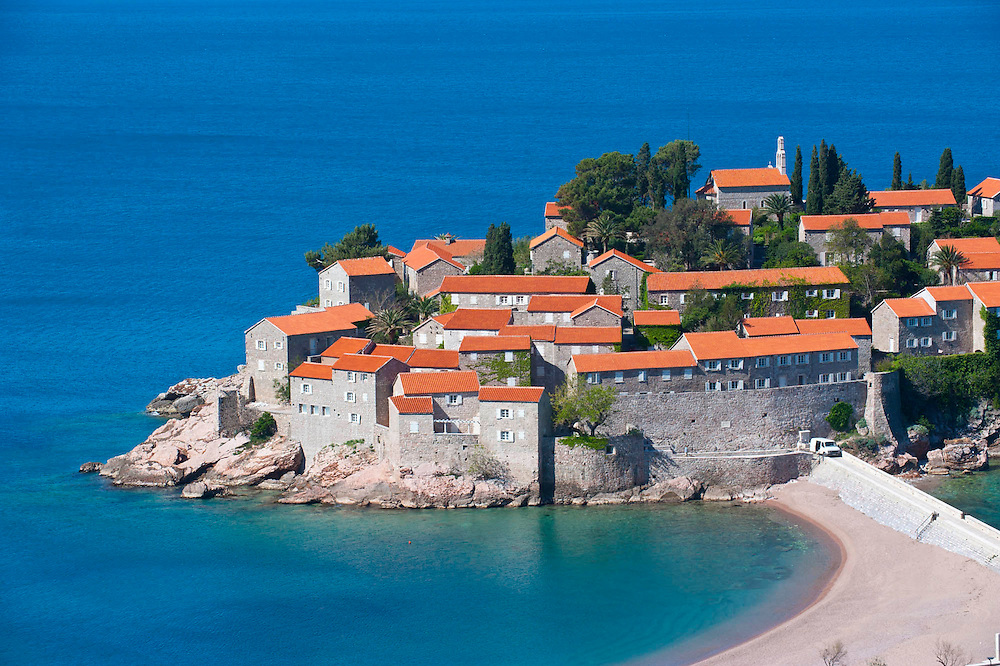 Sveti Stefan kleines Resort in Montengro, Balkan*Sveti Stefan, seaside resort in western Montenegro