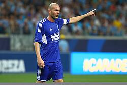 Zidane durante a 10ª edição do Jogo Contra a Pobreza - Match Against Poverty, na Arena do Grêmio, em Porto Alegre. FOTO: Lucas Uebel/Preview.com