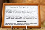 Information relating to medieval knight de Stokke effigies Great Bedwyn church, Wiltshire, England, UK