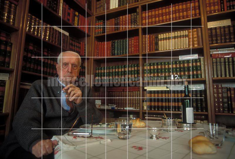 Milan, 1995. Italian literary critic Carlo Bo in his home / Milano, 1995. Il critico letterario Carlo Bo nella sua casa - © Marcello Mencarini
