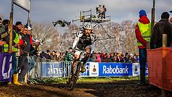 Alexander REVELL (64,NZL) 2nd lap at Men UCI CX World Championships - Hoogerheide, The Netherlands - 2nd February 2014 - Photo by Pim Nijland / Peloton Photos