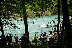 Final sprint race of European wildwater Canoeing Championships Soca 2013 on May 12, 2013 in Trnovo ob Soci, Soca river, Slovenia. (Photo By Vid Ponikvar / Sportida)