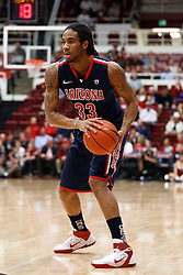 February 3, 2011; Stanford, CA, USA;  Arizona Wildcats forward Jesse Perry (33) with the ball against the Stanford Cardinal during the first half at Maples Pavilion.  Arizona defeated Stanford 78-69.