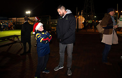 Matt Cox of Worcester Warriors meets fans in the kids zone- Mandatory by-line: Robbie Stephenson/JMP - 22/12/2017 - RUGBY - Sixways Stadium - Worcester, England - Worcester Warriors v London Irish - Aviva Premiership