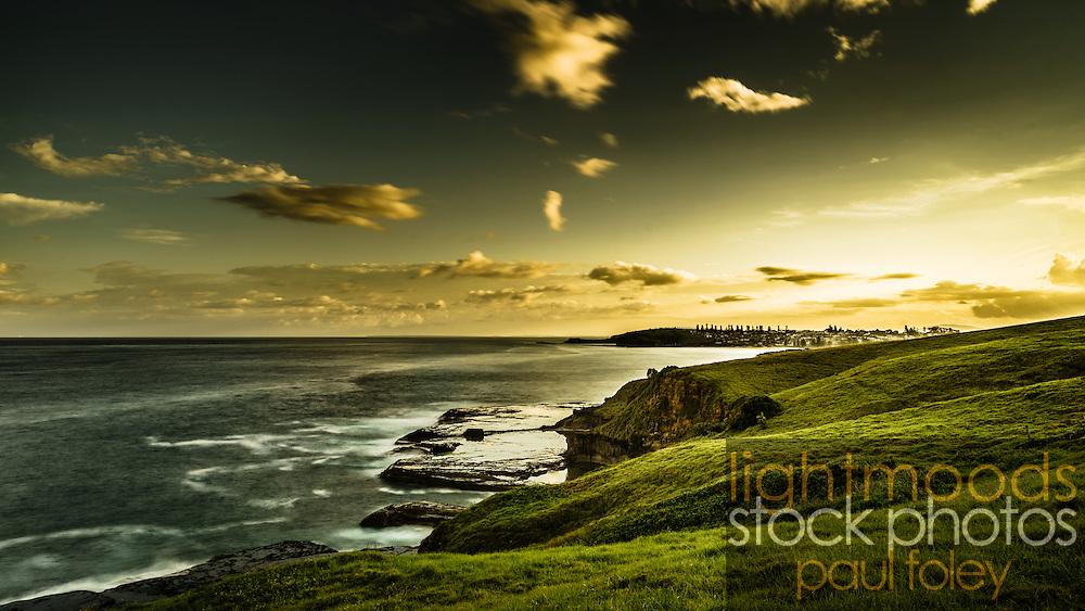 Coastal Walk from Kiama looking south to Gerrigong, South Coast NSW, Australia