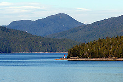Pacific Coastline, Queen Charlotte Sound, British Columbia, Canada