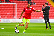 Sheffield United Phil Jagielka (15) warming up during the Pre-Season Friendly match between Barnsley and Sheffield United at Oakwell, Barnsley, England on 27 July 2019.