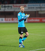 Dundee keeper Scott Bain salues the fans  - Dundee v Kilmarnock, Ladbrokes Scottish Premiership at Dens Park<br /> <br />  - &copy; David Young - www.davidyoungphoto.co.uk - email: davidyoungphoto@gmail.com