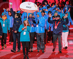 18.03.2017, Planai-Stadion, Schladming, AUT, Special Olympics 2017, Wintergames, Eröffnungsfeier, im Bild der Einmarsch der Delegation aus Italien // the delegation of Italy during the opening ceremony in the Planai Stadium at the Special Olympics World Winter Games Austria 2017 in Schladming, Austria on 2017/03/17. EXPA Pictures © 2017, PhotoCredit: EXPA / Martin Huber