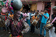 Kavadi dancer at a Hindu temple festival off Jampettah Street in Colombo 13.