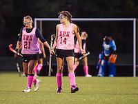 St Paul's School girls varsity Field Hockey versus New Hampton.  ©2016 Karen Bobotas Photographer