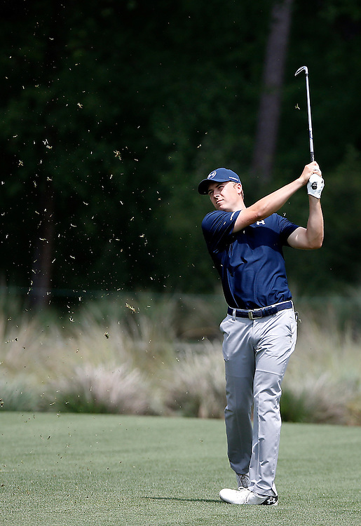 Jordan Spieth hits an approach shot off of the second fairway in the Shell Houston Open-Round 1 at the Golf Club of Houston on Wednesday, March 31, 2016 in Humble, TX. (Photo: Thomas B. Shea/For the Chronicle)