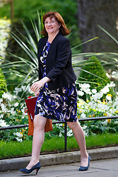 © Licensed to London News Pictures. 12/05/2015. LONDON, UK. Education Secretary Nicky Morgan attending to the first Conservative cabinet meeting after the 2015 general election in Downing Street on Tuesday, 12 May 2015. Photo credit: Tolga Akmen/LNP