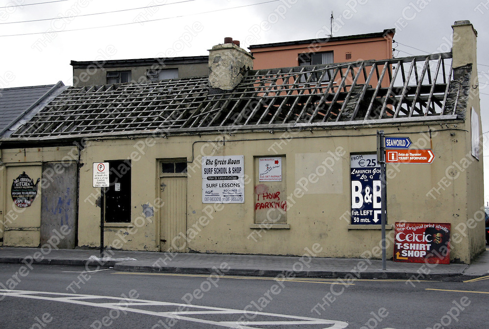 A run down house on the main street in Lahinch.<br /> <br /> Photograph by Yvonne Vaughan.